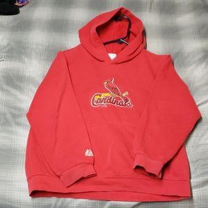 Cardinals hoodie boys size 14/16